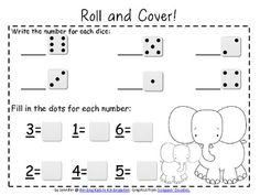 $1.50 Roll & Cover Number Recognition Games!
