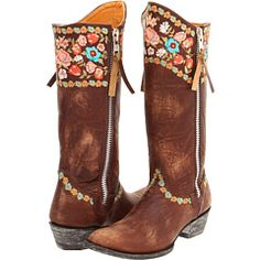 Old Gringo Gaylarazz - Cowgirl Boots!  Love the flower stitching.