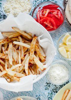 baked fries with lemon rosemary salt