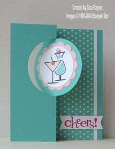 Happy Hour circle thinlit card using Stampin' Up! supplies. #stampinup