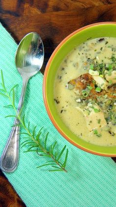 Rosemary Chicken, Mushroom and Wild Rice Soup....  Crock pot easy (set and forget and SOUP!!!), Earthy rustic flavors make this a grown up soup perfect for winter... Also made easy with rotisserie chicken... YOU CAN MAKE SOUP easy peasy