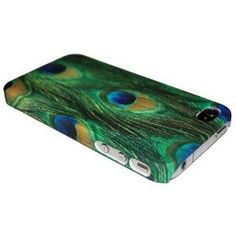 Peacock Feather Embossed Hard Case for Apple iPhone 4, 4S (AT, Verizon, Sprint)
