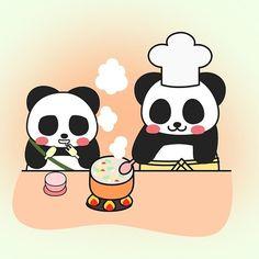 Cooking Panda  #panda #pandakuma #cooking #cookingpanda
