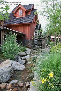Water wheel mill at Stone Mountain Park near Atlanta, Georgia