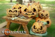 Paper mache pumpkins, this guy shows you how to create your own Halloween pumpkin, creepy cool