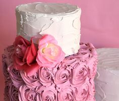 faux cake, two tier