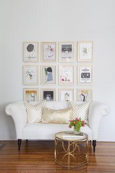Gold Dot and Gold Fleur Pillows