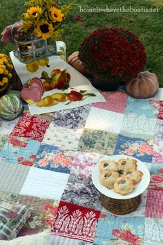fall picnic by the water from The Home Is Where The Boat Is site