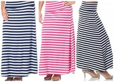 striped maxi skirt o
