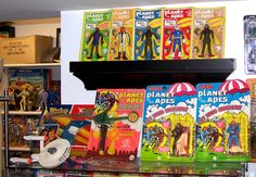 Vintage Planet of the Apes toy collection