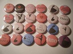 Ballet Dance Pink Ballerina  Magnet Gift Set