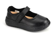 Girls Orthotic Shoes @ thewideshoes.com - The Wide Shoes and the extra wide shoes - 227-1-Black Young Girls' Mary Jane Walking available widths: M W XW