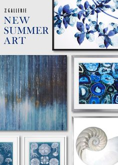 Layer your walls with our latest art arrivals for summer.