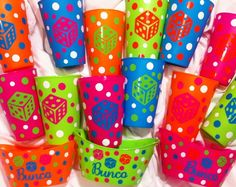 cricut idea, bunco parti, gift, craft, bunco night, bunco idea, vinyl, parti idea, bunko party ideas