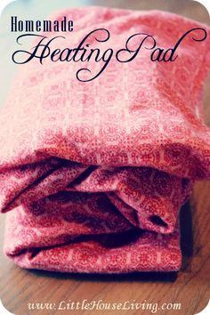 How to make a wonderful (shoulder size!) heating pad and a washable cover. So easy!