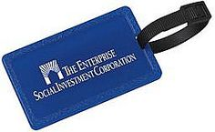 Our custom imprinted corn plastic luggage tag is super-affordable, eye-popping, and eco-friendly! It's made of 100% corn plastic in the USA. #promotionalproducts #green