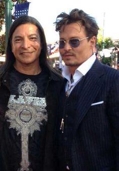 Gil Birmingham (Comanche) & Johnny Depp (Cherokee)
