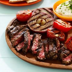 Stay healthy with Skirt Steak Pitas. Perfect for Superbowl Sunday to munch on.  Check out the recipe:  http://recipes.sparkpeople.com/recipe-detail.asp?recipe=2175110  Calories: 294.5  Total Fat: 11.6 g  Cholesterol: 56.8 mg  Sodium: 713.7 mg  Total Carbs: 16.0 g  Dietary Fiber: 5.2 g  Protein: 30.0 g