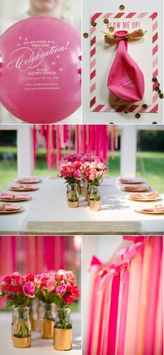 Gold and pink birthday party