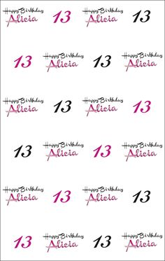 Alicias 13th Birthd