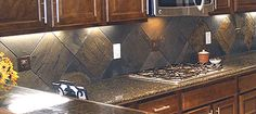 This is the backsplash in my dream kitchen along with the under cabinet lighting.
