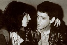 Patti Smith and Lou Reed.