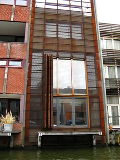 corten shutters on a canal house. IMG_0277.JPG, via Flickr.