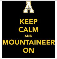 love it!! appstat, favorit, asu, appalachian state, inspir, keep calm, colleg, black, app state