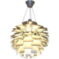 """24"""" Artichoke Style Chandelier Modern Lamp in Silver"""