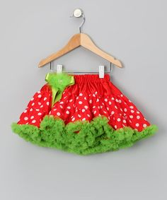 Red & Lime Pettiskirt - Infant, Toddler & Girls by Little Diva on #zulily #baby #clothes #infant #toddler #girl #girls #pettiskirt #petticoat #skirt #red #green #polkadot #polka #dot #ruffle #ruffles #ruffled #dance #ballet #ballerina #grinch #drseuss #seuss #stole #christmas #holiday #elf #picture #family #portrait #card #cards #dressup #costume #play #lime #white