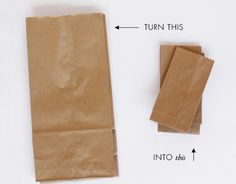 Turn large paper bags into mini paper bags - Tutorial by Lavender's Blue Designs