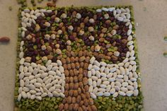 Mosaicos con semillas. kids activities and crafts, kid activities, mosaic crafts, fall kid crafts, family tree craft for kids, kid stuff, craft ideas, fall kids, mosaics for kids