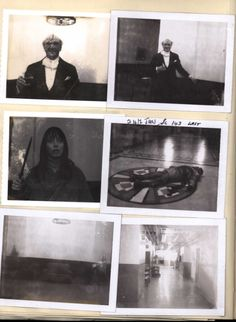 Polaroids shot by Continuity Supervisor June Randall during production of The Shining, including images of actors Norman Gay, Shelley Duvall, and Scatman Crothers. These black-and-white photos were shot throughout filming to notate positions of props, set dressing, and states of costumes.