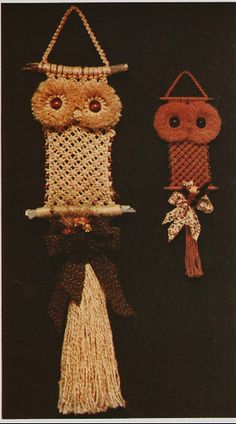 autumn macrame owls