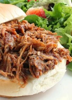 Pulled Pork (Crock Pot)   I found this pulled pork recipe years ago, and it's a favorite at potlucks. Freezes well for easy quick meals.