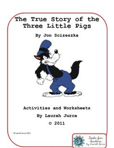 The True Story of the Three Little Pigs Book Activities an