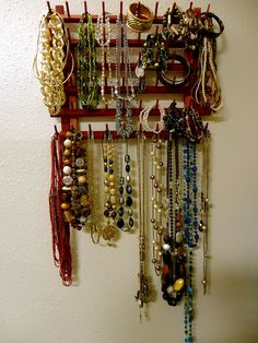 DIY jewelry holder. :)