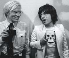 Icons Andy Warhol cultural icon, and Mick Jagger of The Rolling Stones -Image by Ken Regan