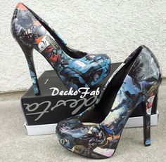 Batman The Dark Knight High Heel Pumps by DeckoFab on Etsy, $85.00. because yes