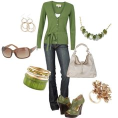 St. Patrick's Day of Green, created by staceedawn on Polyvore