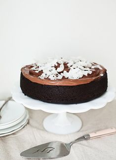 chocolate and coconut cake by the little red house, via Flickr
