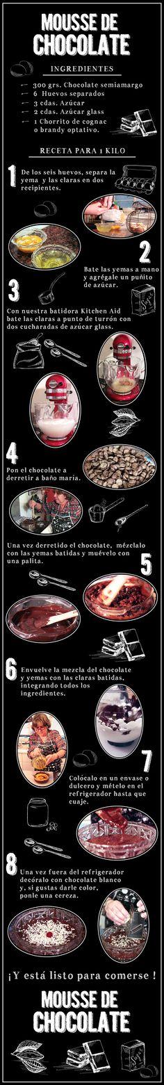 Mousse de Chocolate: Un regalo para tu paladar, este postre le encantará a tu familia. #Postre #Receta #Recipe #Foodie #Mousse #Gourmet