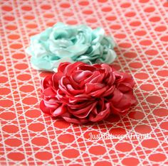 satin flowers tutorial