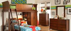 kid bedrooms, bedroom retreat, grow famili, retro bedroom, kid retro, kid room