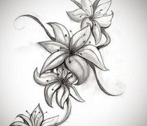 easter lily tattoo - I want something like this on my chest/shoulder area