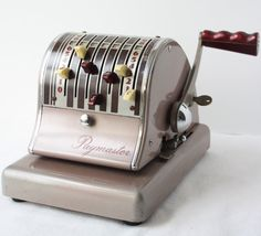 Vintage Paymaster check writing machine.