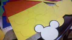 Mickey mouse Clubhouse birthday party cutouts