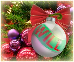 """""""Will"""" Ornament / Christmas Ornament / Days of our Lives / #DAYS"""