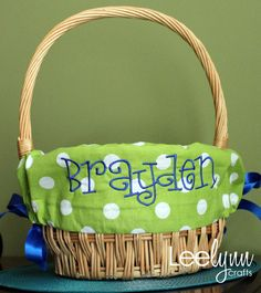 Personalized Easter baskets!