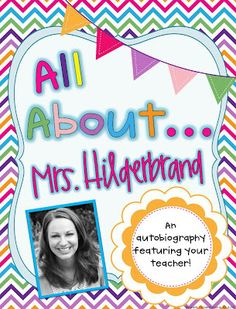 All about ME powerpoint idea for first day with students and open house